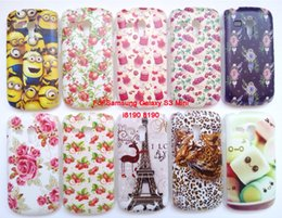 Wholesale Galaxy S3 Mini Back Cover - New Arrival 15 Patterns Case Cover For Samsung Galaxy S3 mini i8190 Hard PC Back Phone Cases Flower Plastic Free Gifts