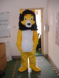 2019 mascote, trajes, leão Atacado-Professional leão amarelo mascot Fancy Dress Costume tamanho adulto EPE Suit traje da mascote desconto mascote, trajes, leão