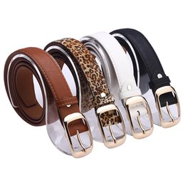 Wholesale Plaid Leather Belt - 2018 Belts for Women Fashion Belts Cinturones Mujer Ladies Faux Leather Metal Buckle Straps Girls Fashion Accessories