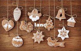 Wholesale Clay Ornaments Wholesale - New 11 pcs lot Hanging Ornament Snowflakes Decor Polymer Clay Drop Pendants Christmas Tree Baubles Decoration Enfeites Ornaments Set