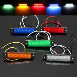 Wholesale Led Trailer Marker Lights Amber - 24V 12V 6 SMD LED Car Bus Truck Trailer Lorry Side Marker Indicator Light Side lamp