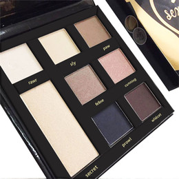 Wholesale Black Glitter Eyeshadow - New sex kitten Eyeshadow Palette 8 Colors Square Hand Paper Box Cat Black Shimmer Glitter Eye Shadow Makeup Limited Edition