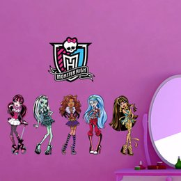 Wholesale Kindergarten Wall Decals - 2015 ZooYoo Monster High Minion Movie Decal Removable Wall Sticker Home Decor Art Kids Kindergarten children's cartoon wall stickers