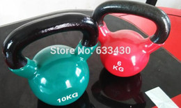 Wholesale Tool Chests Wholesale - Wholesale- 6,8,10,14KG Muscle Training Dipping kettle dumbell fitness equipment tool Free Shipping