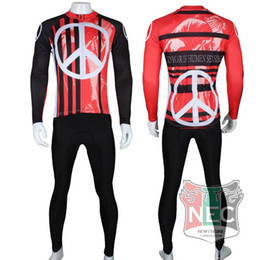 Wholesale Man Fleece Suit For Winter - Fleece Thermal Cycling Suit for men Anti-war Winter warm cycling suits Exclusive design Bike Jersey + Pants Gel pad Polar Maillot