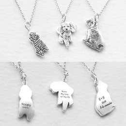 Wholesale Jewels Dog - Private custom Provide photo customization JEWELS 925 sterling silver DIY dog Pedant Necklaces pet Charm Silver Necklace Jewelry