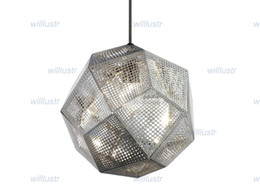 Wholesale Tom Dixon Etch Light - Free shipping hot selling Tom Dixon Etch Shade Pendant Lamp modern lamp Ceiling lamp suspension lighting Etch Shade gold silver