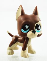 Wholesale pet stars - little pet shop toys 5cm figure lps great dane dog #817 Chocolate Star Eyes