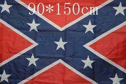 Wholesale Fabric Wholesalers Usa - 2015 new arrival !!! USA Two Sides Printed Flag Confederate Rebel Civil War Flag National Polyester Flag 90*150cm 5*3FT 50pcs