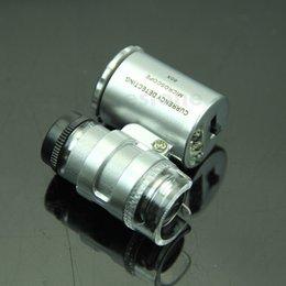 Wholesale Order Uv Glass - Free Shipping Mini Jeweler 60x LED UV Light Pocket Microscope Jewelry Magnifier Loupe Glass order<$18no track
