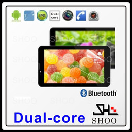Wholesale Mtk6515 Tablet Phone - Wholesale-GSM phone call tablet 7inch P1000 2G Dual SIM cards MTK6515 1.5GHZ cortex A8 512MB RAM with BT FM dual camera GPS
