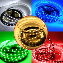 Wholesale Bright Light Strips - Super Bright 5m 5630 5050 3528 SMD 60led m LED Strip Light Waterproof Flexible 300LED Cool Pure Warm White Red Blue Green DC 12V Xmas Light