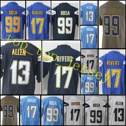 Wholesale Elite Football - Men's #17 Philip Rivers 13 Keenan Allen Jersey Top sales 99 Joey Bosa Elite Color Rush Limited stitched Jerseys Free Shipping