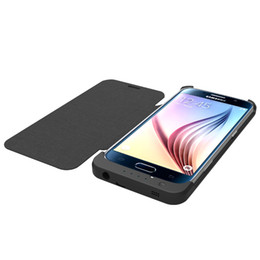 Wholesale Solar Power Charger Case - Battery Charger Case for Samsung S6 Edge power case Extra Battery S6 edge 4200 mah with Flip protect screen