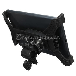 Wholesale Ipad Bicycle - Universal 7-11 inch Adjustable Microphone Music Motorcycle Bike Bicycle Mount Stand Holder For Sam Tablet Nexus 7 For iPad 2 3 5