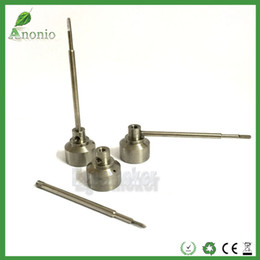 Wholesale Pointed Nail Tips - Wholesale GR2 Titanium Level Carb Cap with ball point tip dabber Titanium Domeless Nail Wholesale Titanium Carb Caps With Dabble On Top