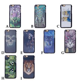 Wholesale Case Iphone 4s Dog - Hot 3D Animal Lion Leopard Wolf Dog hard back Cover Case for iPhone 4 4s 5 5s 6 6s 6 Plus I6 I5 I4 phone coque etui fundas movil 010078