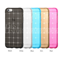 Wholesale Iphone 5s Case Clear Gel - Magic Cubee Shape Protective Cube Grid Series Soft Gel TPU Transparent Case For iPhone 5 5S 6 6S Plus Shockproof Clear Back Cover