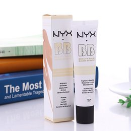 Wholesale Naked Skin Bb Cream - NYX Concealer BB Cream Concealer beauty 30ml Moisturizing Foundation 4 Color Naked Makeup smoothes moisturizes Oil-control Mineral Enriched