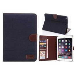 Wholesale Ipad Mini Photos - wholesale jeans wallet Stand case cover Pouch With Photo Credit Card Holder stand TPU PU leather case for ipad mini 2 3 4