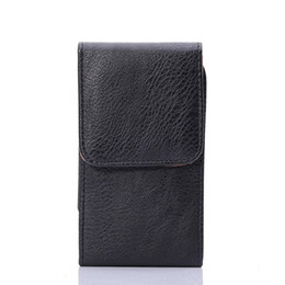 Wholesale Galaxy Mega Pouch - Lychee Texture Universal Vertical Style Leather Case with Belt Holder for iphone 6S plus and Samsung Galaxy Mega 2   Note 4   Note 3 Bags