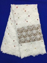 Wholesale Tulle Lace Fabric Wholesale - Best Selling Swiss Voile Laces African Lace Fabric White Color Nigerian French Fabric 2017 High Quality African Tulle Lace Fabric L140