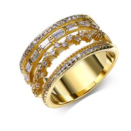 Un style de qualité supérieure bagues en argent étamé à cocktail zircon CZ en platine / 18K doré avec diamant ? partir de fabricateur