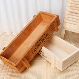 Wholesale Vintage Green Planter - Vintage Wood Garden Flower Planter Succulent Pot Rectangle Trough Box Plant Bed