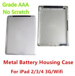 Wholesale Case For Ipad 3g - Grade AAA No Any Defect Original Quality Battery Housing Door Case For Ipad 2 3 4 3G   Wifi Version Back Cover free shipping