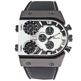 Wholesale watch oulm - Fashion Brand OULM Men luxury military sports wrist watch Three quartz timepieces Stainless steel Band Quartz Watch for Man