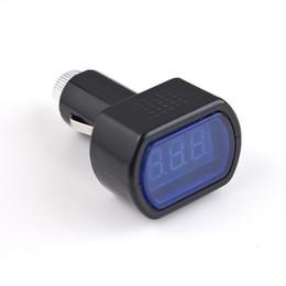 Wholesale Electric Cigarette Display - DC 12V 24V Mini Digital LED Display Cigarette Lighter Electric Voltage Meter Detector Monitor For Car Battery