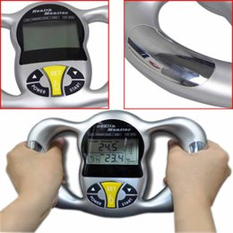 Wholesale Handheld Body Fat Analyzer - New Handheld LCD digital body fat analyzer monitor body fat analyzer with Health Monitor