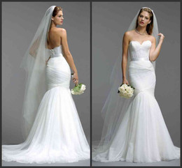 Wholesale Bridel Wedding Dress - 2016 Berta Mermaid Wedding Dresses Sweetheart Corset Bodice Bridel Gowns Vestido De Low Back Bridal Gown Lace Ribbon Court Trian shj