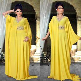 vestidos de moda nigeriana Rebajas 2018 Barato Árabe Nigeriano Medio Oriente Abaya Vestidos de celebridades Granos Fajas de collar Fiesta de la fiesta Formal Noche de baile Vestidos Moda desbocada