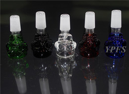 Wholesale Cheap Bowl Pipes For Sale - New Skull Glass Bowls For Sale Cheap Glass Bowls For Glass Bong Water Pipe Smoking Accessory 14.5mm 18.8mm