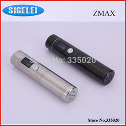 Wholesale Electronic Cigarette Variable Volt - lectronic Cigarettes Electronic Cigarette Kits Sigelei Zmax V5 Simple Body Pack Telescopic Mod Variable Volt Watt Starter Kit OLED Screen...