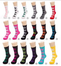 Wholesale Leaf Printed - 1pair=2pcs Printed Socks Cotton Calcetines Deporte Men Socks Unisex Maple Leaf Skateboard Basketball Sport Socks