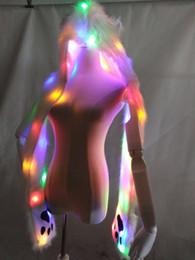 Natürliches licht kostüme online-2017 neue heiße personalisierte LED Lichter Halloween Kostüme in Übereinstimmung mit der natürlichen Stil der neuen modernen Freizeitkleidung