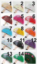 Wholesale Hand Fan Supplies - Spanish Wedding Dance with Mixed Flower Wood Hand-Painted Folding Wooden Hand Fan for Xmas decoration