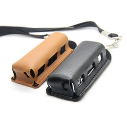 Wholesale Ego Case Lanyard - New leather case carry bag for 20W 30W Mod leather case with ego lanyard ring Vapor Holder for i stick e cig Smart 20W box Mod Free Shipping