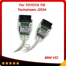Wholesale Toyota Diagnostic Connector Techstream - 2015 Latest Software Version Quality A + MINI VCI FOR TOYOTA TIS Techstream V8.10.021 Diagnostic interface free shiping
