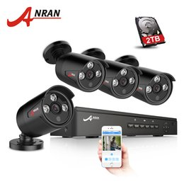 Wholesale Hd Onvif - ANRAN Plug And Play 4CH NVR 48V POE CCTV System Onvif P2P 1080P HD H.264 Array IR Motion Detection Outdoor Security POE IP Camera Hard Disk