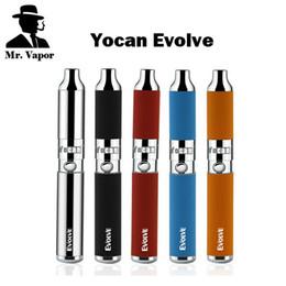 Ego argentato online-Autentico Yocan Evolve Penna per vaporizzatore a cera Evolve-D Starter Kit per erbe secche 650mah Filettatura eGo Doppia bobina Argento Nero Rosso Blu Arancione Colori