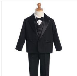 Özel Yapılmış erkek Takımları Bir Düğmeler Suits Çentik Yaka çocuğun Çocuklar Örgün Durum Düğün Smokin (Ceket + pantolon + yelek) supplier one button suits for boys nereden erkek için bir düğme uygun tedarikçiler