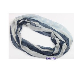 Wholesale Red White Blue Striped Flag - Wholesale-free shipping ladies' Fashion blue & white vintage flag star striped infinity scarf American flag loop scarf wide) 160cm(long)