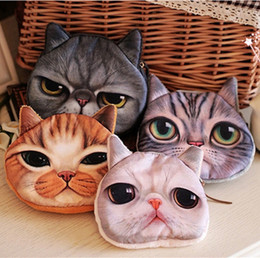 Wholesale One Shoulder Woven Bag - 2016 New Arrive 3D cat cathead purse meow star people coin key bag cats cartoon handbag wallets holders best gift free shipping A-0251