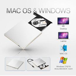 Wholesale 8x Dvd - USB 3.0 Drive Gravador de DVD Externo Unidade Óptica CD-ROM Leitor de CD DVD RW Burner Escritor Portátil para o Portátil Da Apple Macbook PC