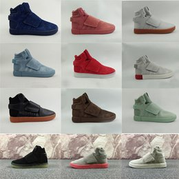 Wholesale Lace Christmas Gifts - 2017 New Kanye West 750 Boots Tubular Invader Strap Running Shoes Christmas gift Sesame Men Sneakers Boost Sport Shoes Size 40-46