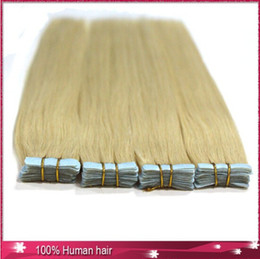 "Wholesale Tap Hair - 100g 40pcs 16"" 18"" 20"" 22"" 24"" #60 Glue Skin Weft Tap-in Human Hair Extensions 100% Remy Indian Human Hair Extension"