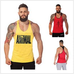Wholesale Mens Gym Vests - NEW Golds Gym Vest Mens Sleeveless Shirt Bodybuilding Stringers Tank Top Fitness Singlets Sport Undershirt Sport Clothes Cotton Tops